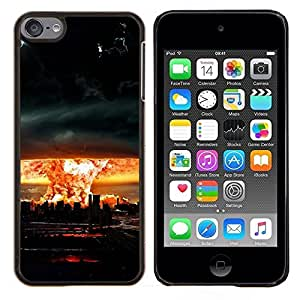 TECHCASE---Cubierta de la caja de protección para la piel dura ** Apple iPod Touch 6 6th Touch6 ** --Enorme Tornado Huracán