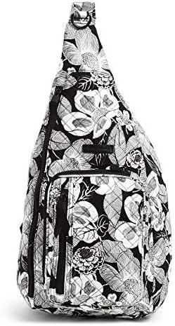 Vera Bradley Women's Signature Cotton Medium Sling Backpack, Bedford Blooms, One Size