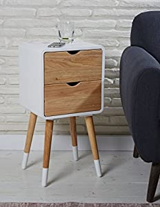 Telephone Table Wood White 35 X 35 X 70 CM With Drawer Console Table Side  Table Bedside Table Sideboard With Drawers Schränckchen Modern Scandinavian  New ...