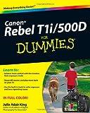 Canon EOS Rebel T1i/500D for Dummies, Julie Adair King, 0470533897
