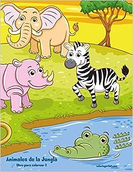 Animales De La Jungla Libro Para Colorear 2 Volume 2 Spanish