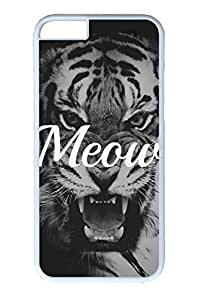 iPhone 6 Case, Personalized Unique Design Covers for iPhone 6 PC White Case - Meow