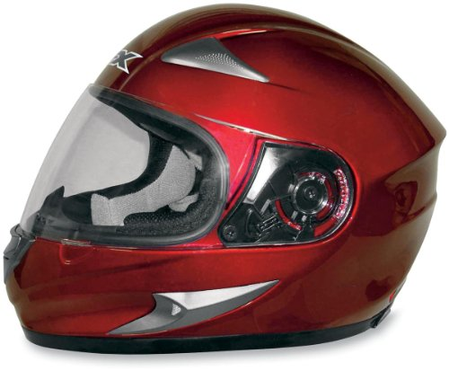 AFX FX-90 Solid Helmet , Size: XS, Distinct Name: Wine Red, Primary Color: Red, Gender: Mens/Unisex, Helmet Type: Full-face Helmets, Helmet Category: Street 01014009