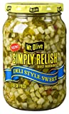 Mt. Olive Simply Relish Deli Style Sweet 16 oz (Pack of 3)