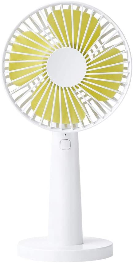 Personal Portable 3 Speeds Rechargeable Rotation USB Cooling Fan- for Office Room Outdoor Traveling Urnanal Mini Handheld Fan