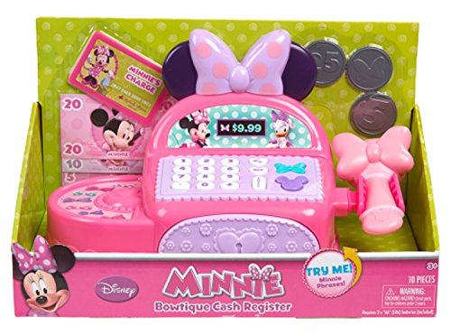 Minnie Bowtique Cash Register Includes 10 Pieces