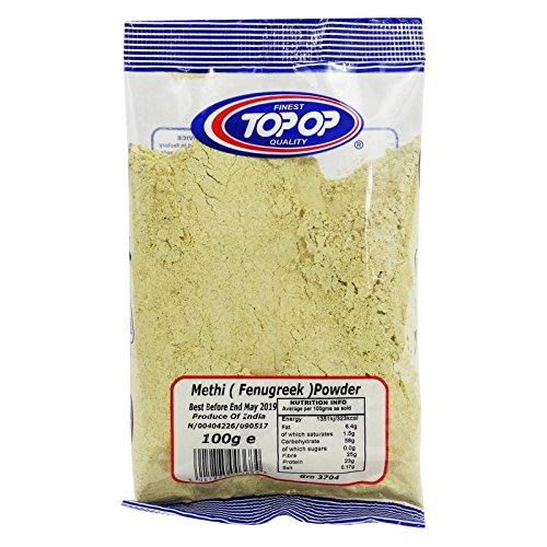 TOP OP - Fenugreek Methi Powder - Skin and Hair Care Ayurvedic Powder Recipe - 100% Organic - 100 gr