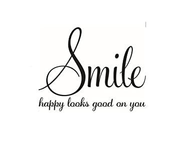 """smile sprüche CAOLATOR Wandtattoo Englische Sprüche """"Smile"""" Kreativ  smile sprüche"""
