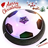 EpochAir Hover Ball, Girl Boy Toys, Hockey Football 2-in-1 Floating Girl Boy Gifts with Reinforced Battery Cover, Mini Screwdriver, Foam Bumpers and Colorful LED Light for Indoor and Outdoor Games
