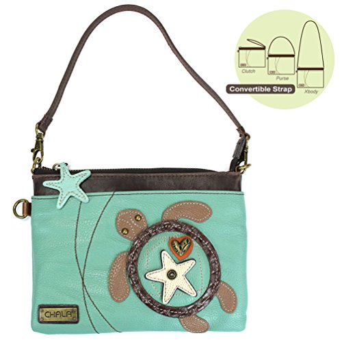 (Chala Mini Crossbody-Sea Turtle, Teal)