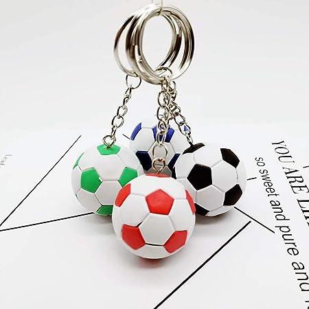 TOYANDONA 1 unid llaveros de balón de fútbol Blanco, Ideales para ...