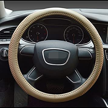 Durable Anti Slip Soft Breathable PU Leather Car Steering Wheel Protection Cover