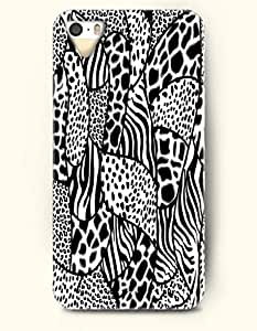 iPhone 5/5S Case, OOFIT Phone Cover Series for Apple iPhone 5 5S Case (DOESN'T FIT iPhone 5C)-- Black And White Leopard Grain And Zebra Print -- Animal Print