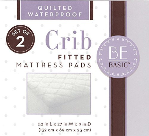 BE Basic Quilted Waterproof Fitted Crib Mattress Pad by BE Basic