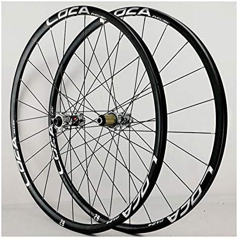 Bike Wheelset マウンテンバイクホイールセット26 / 27.5 / 29インチ700Cディスクブレーキ6つめ自転車ホイール超軽量アルミ合金フロントリア8-12スピードフリーホイール24ホール (Color : E, Size : 27.5inch)