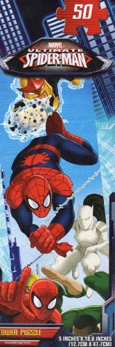 Spider - MEN Tower Puzzle #2 - 50 Pc Jigsaw Puzzle - (Spider Tower)