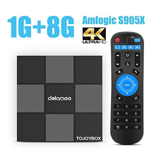 DOLAMEE D6 Android 6.0 Mini PC 1GB RAM 8GB ROM Storage Amlogic S905X Quad Core CPU TV BOX 4K HD OTT with WIFI -  TOJOYBOX, D61