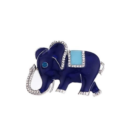 Yazilind Encantador Elefante Broche Pin Rhinestone...