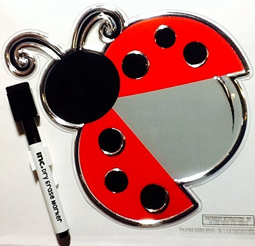 Cute Small Dry Erase Ladybug Sticker 7
