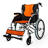 G&M Folding Portable Wheelchair For The Elderly Manual Wheelchair Thick Handrail Handicapped Handcart