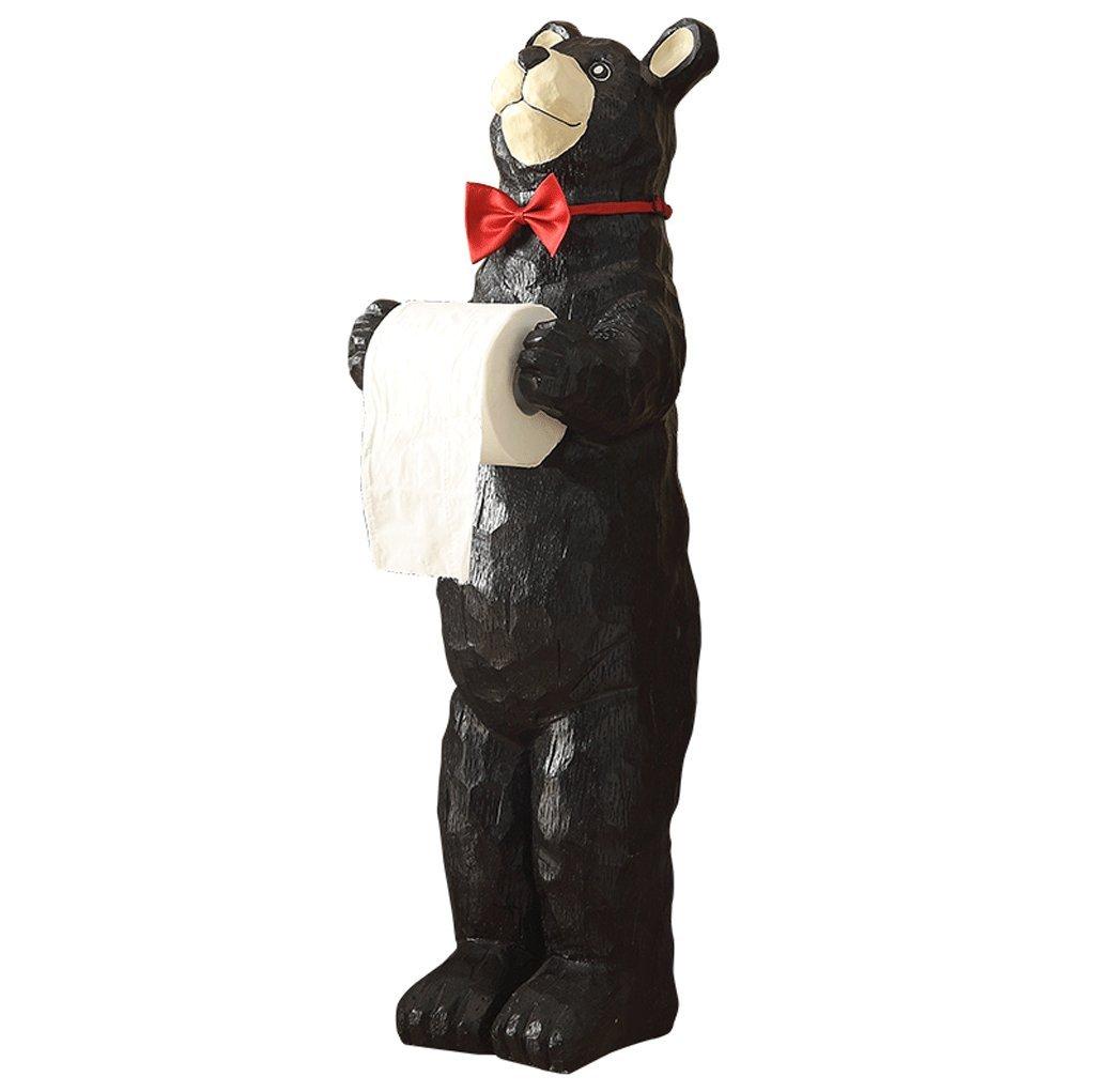 DGF Toilet Paper Holder, Creative Kitchen Paper Towel Holder Bathroom Roll Holder (H760mm) Cute Bear