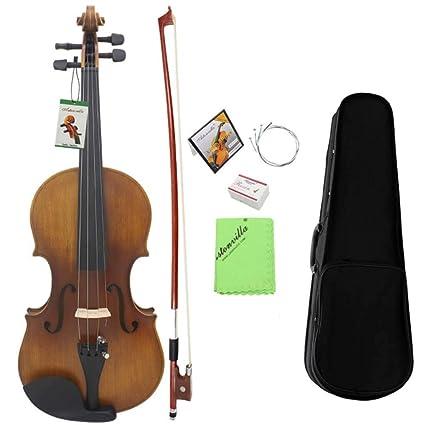 Instrumento de violín para principiantes 4/4 Tamaño completo ...