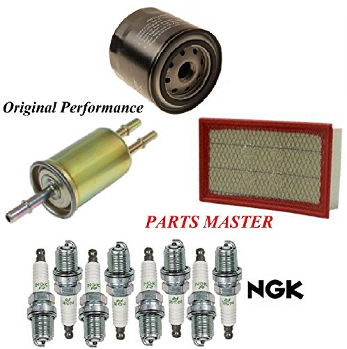 8USAUTO Tune Up Kit Air Oil Fuel Filters Spark Plug Fit FORD EXPLORER V8 4.6L 2002-2003