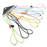 EUBUY Nylon Cord 12 Pcs Colorful Safety Adjustable Eyewear Braided Eyeglass Reading Sunglass Neck Strap Rope Lanyard Holder (For Kids)