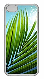 iPhone 5C Case, Personalized Custom Water Bokeh Leaves for iPhone 5C PC Clear Case