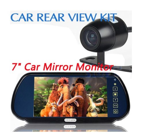 BW New 7 inch LCD Mirror Monitor Car Reverse Rear View Parking System with IR Night Reversing Camera