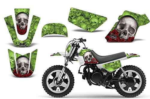 Bone Collector-AMRRACING MX Graphics decal kit fits Yamaha PW50 All years-Green
