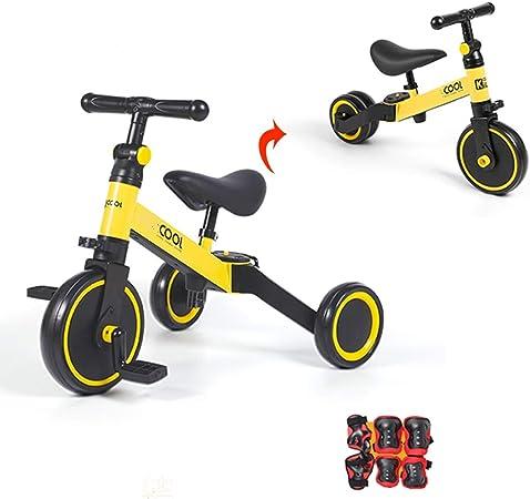 Bicicleta sin pedales Bici Baby Balance Bike para 1 2 3 años Niños Niñas- Bicicleta Niños Walker Juguetes Regalos Paseos, Sin Pedal Infantil Primer cumpleaños Regalo de año Yellow: Amazon.es: Hogar