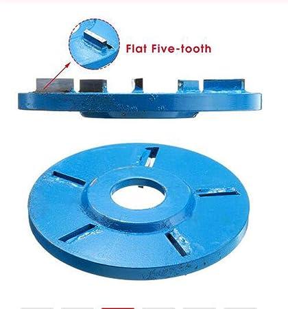 6-Teeth Sculpture Bois Disque Fraisage Fraise pour 22mm Ouverture Meuleuse Angle