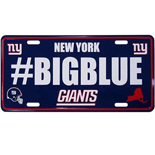 (Siskiyou NFL New York Giants Hashtag License Plate)