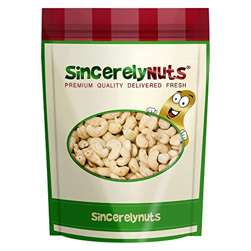 Nothing But Nuts - Sincerely Nuts Organic Raw Cashews Whole No Shell - One Lb. Bag - Incredibly Tasty - Fantastically Fresh - Healthy Nutrients - Kosher