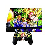 Dragon Ball Z Premium Designer Skin Wrap for the Playstation 4 Console + 2 Free Ps4 Controller Skins