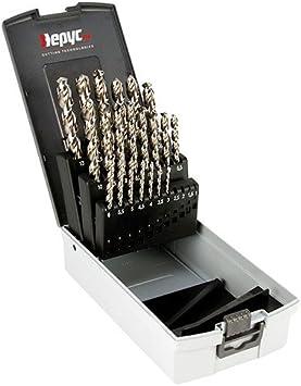 Hepyc 11720000006 - Estuche para taladrado, Ø1-13x0.5mm(HSSCO INOX Ø1 a 13 X 0,5mm.(25pcs)): Amazon.es: Bricolaje y herramientas