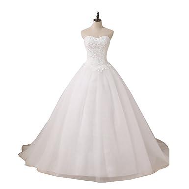 YIPEISHA Princess Ball Gown Wedding Dress Plus Size ...