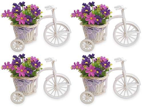 PROMOÇÃO- 4 Bicicleta Flor do Campo Lilás Arranjo Artificial