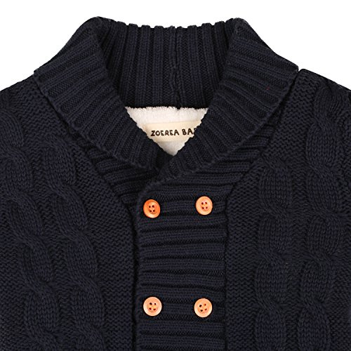 ZOEREA Infant Newborn Baby Romper Long Sleeve Velvet Knitted Sweaters Blue