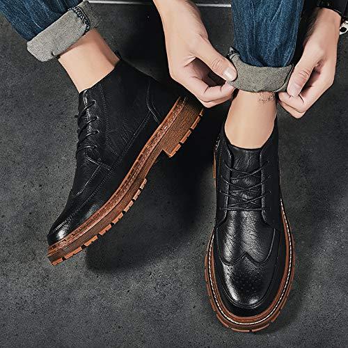 LOVDRAM Stiefel Männer High-Top-Schuhe Herren Freizeitschuhe Martin Stiefel Im Retro Stiefel Kurze Stiefel Herren Stiefel