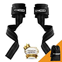 CybGene Lifting Wrist Straps, Dead Lift Exercise Straps, with Wrist Support, for Weight Lifting, Gym Workout, Crossfit, Strength Training, Pull-up, Powerlifting & WODs, Xfit, MMA, for Men & Women