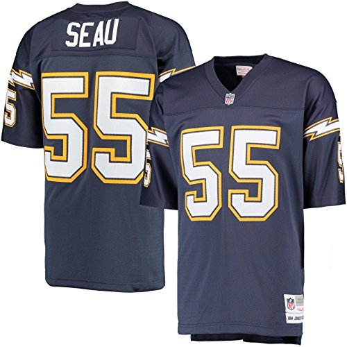 Junior Seau San Diego Chargers Blue Throwback Jersey – DiZiSports Store
