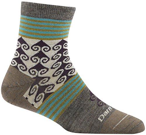 Darn Tough Swirl Print Shorty Light Sock - Women's Taupe Small
