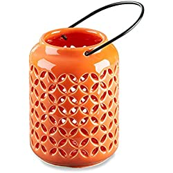 Kate Aspen 23151NA Tropical Chic Ceramic Cutout Lantern