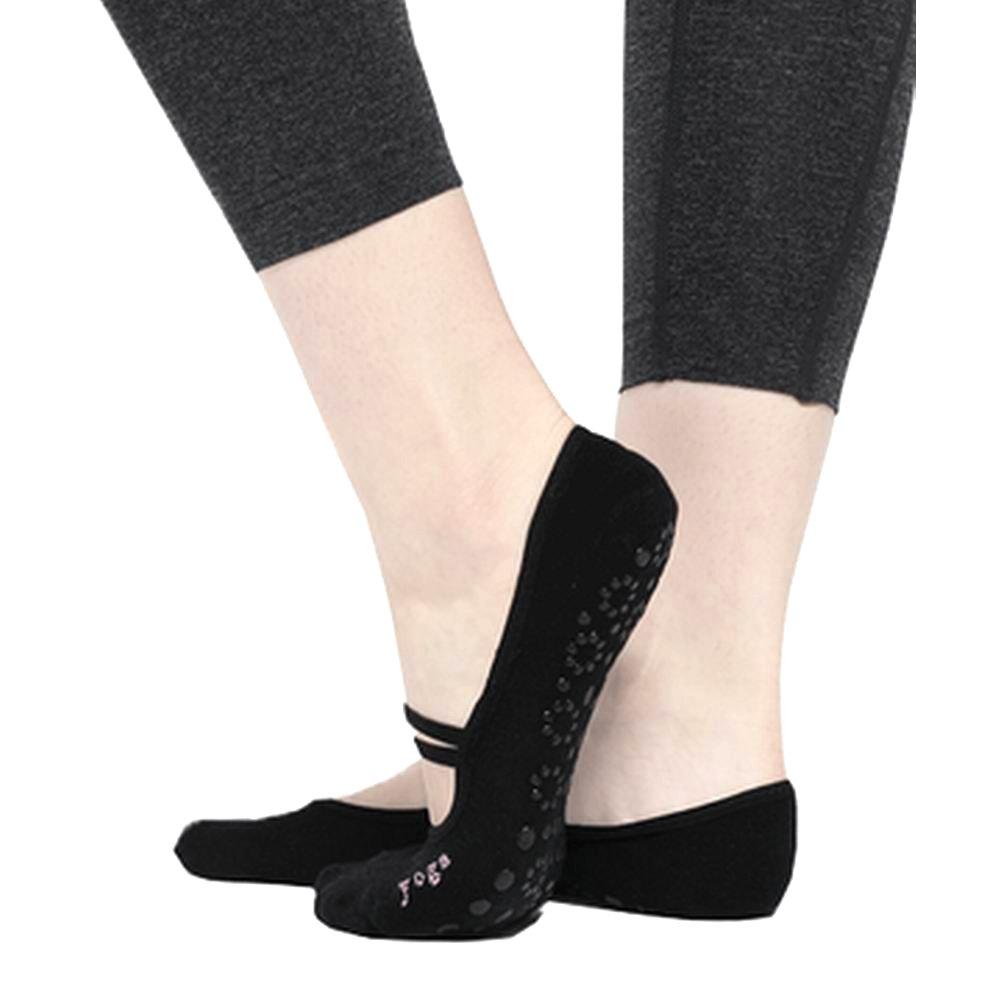 2pcs Calcetines de yoga para mujeres Pilates Ballet de danza antideslizante Cinco calcetines de punta Fitness Calcetines antideslizantes Algodón JJunLiM