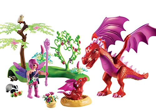 PLAYMOBIL® Friendly Dragon with Baby Playset, Multicolor -