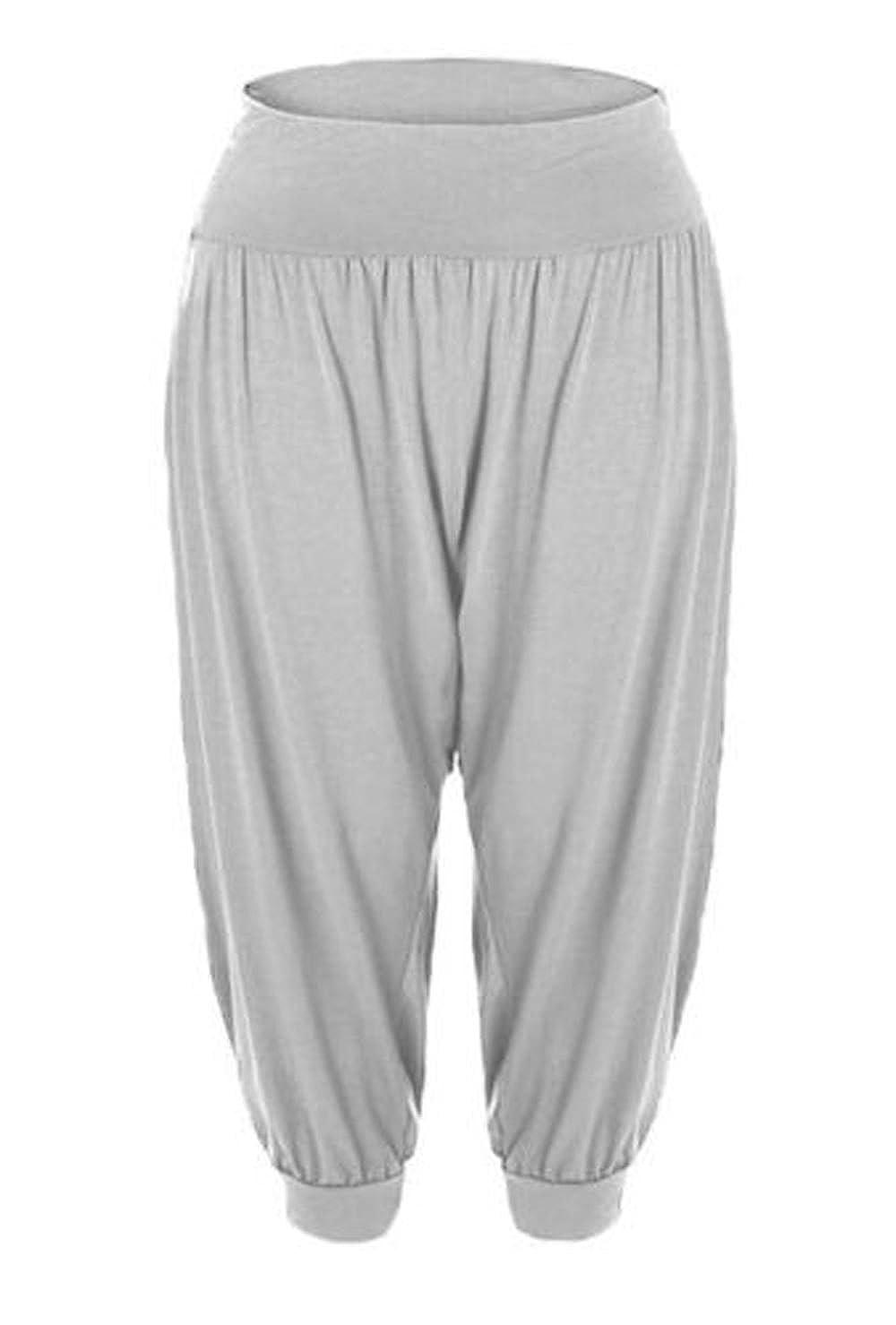 New Kids Girls Plain Hareem Baggy Alibaba Leggings Pants Stretchy Harem Trousers