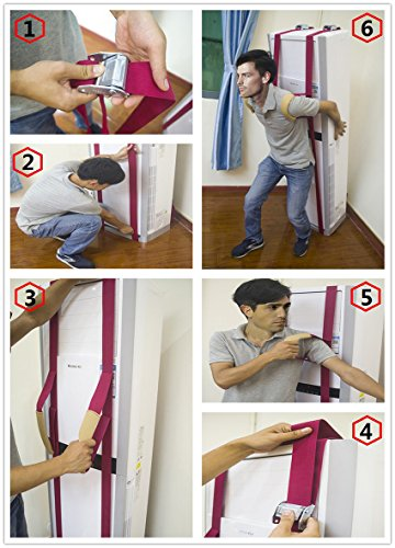 ArtiGifts Furniture Appliances Lifting and Moving Straps for One Person Heavy Duty Lashing Straps Up to 600lbs Ergonomic Adjustable Length Grip Good Helper to Mover