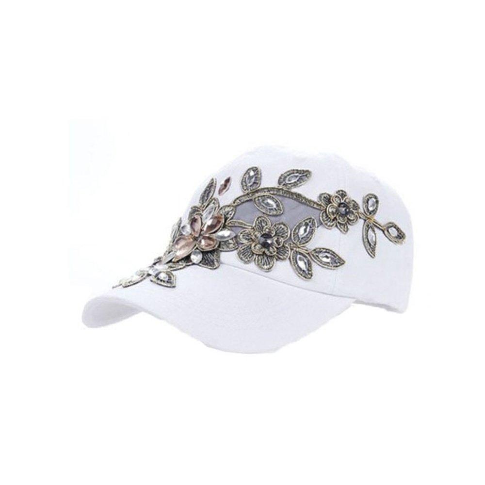 xcoser Cosplay Daily Travel White Golden Silk Drilled Cowboy Hat